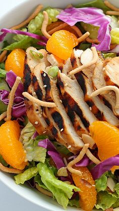 Asian Chicken Salad Recipe ~ absolutely out of this world.