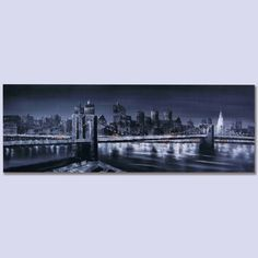 Puente Brooklyn-New York de noche