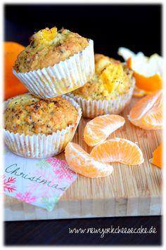 Mandarinen-Mohn-Muffins mit Pistazien