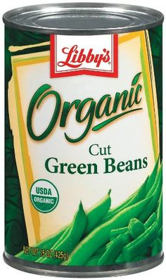 Libby's Organic Cut Green Beans, 14.5-Ounces Cans (Pack of 12) $19.00
