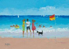 Beach painting Beach Art 5x7 painting beach decor by JanMatsonArt, $85.00