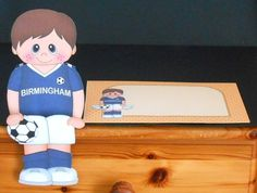 3D On the Shelf Card Kit - Little Footballer Clemente plays for Birmingham - Photo by Joan Prince