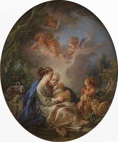 Francois Boucher, La Vierge et l'Enfant