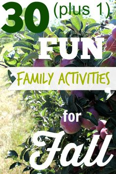 Get out and have some fun with your family this Fall with these great ideas!