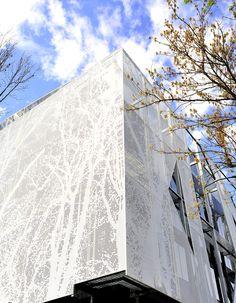 Multiperforated Metal Facade // Bağ Patisserie, Istanbul/ TURKEY // Metal Facade Fabricator: KASSO Engineering
