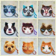 $0.85 (Buy here: https://alitems.com/g/1e8d114494ebda23ff8b16525dc3e8/?i=5&ulp=https%3A%2F%2Fwww.aliexpress.com%2Fitem%2Fanimal-face-coin-purses-small-wallet-ladies-3D-printing-cats-fashion-zipper-bag-pendant-for-women%2F32654845741.html ) animal face coin purses small wallet ladies 3D printing cats fashion zipper bag pendant for women Billeteras Cute Monedero Gato for just $0.85