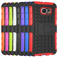 Armour Phone Case For Samsung Galaxy S4 S5 S6 S7 Edge Plus Note 3 4 5 Note3 Note4 Note5 Anti Knock Pc Silicone Mix Hybrid  Cover