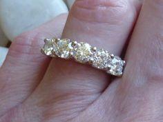 Platinum Nightingale Five-Stone Diamond Ring, size 6.25 | Loupe Troop, $5900