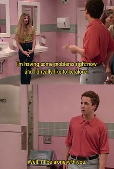 No human is as awkwardly smooth as Cory Matthews…