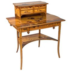 Emile Gallé French Art Nouveau Desk | From a unique collection of antique and modern desks and writing tables at https://www.1stdibs.com/furniture/tables/desks-writing-tables/