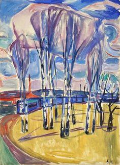 Edvard Munch (1863-1944), The Tram Loop at Skøyen, 1920-30. oil on canvas, 95 x 70 cm