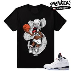 Sneakerhead – Jordan 5 Cement T shirt – Black Jordan 14, Couple Stuff, Types Of Printing, T Shirt Costumes, Fabric Weights, Cement, Yeezy, Men Fashion, Shirt Designs