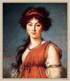 The Athenaeum - Varvara Ladomirsky Élisabeth Vigée-Lebrun - 1800 Columbus Museum of Art (Ohio) (United States) Painting - oil on canvas