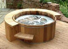 Interior Decorating, Home Design, Room Ideas: Hot Tub, Spa and Jacuzzi Spas, Round Hot Tub, Tubs For Sale, Pergola, Hot Tub Deck, Hot Tub Garden, Mini Pool, Backyard, Hot Tubs