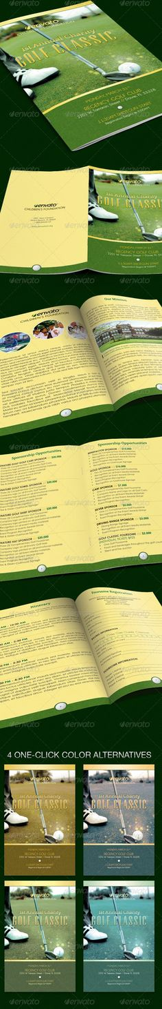 brochure sample Brochures Pinterest Brochure sample - golf tournament brochure