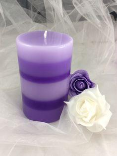 Válec velký levandule Pillar Candles, Lavender, Candles