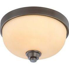 11.25-In W Vintage Bronze Ceiling Flush Mount Light Lw4211