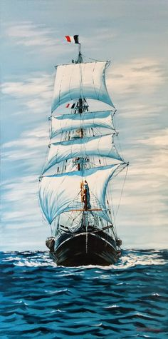 Title: Ship Medium: Acrylic on canvas Size: 50 cm * 100 cm Date of creation: 2015 Place of origin: Spain