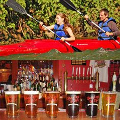 Paddle and brewery tours! For the dad that loves kayaking and drinking a brewskie. #GiftForDad #FathersDay