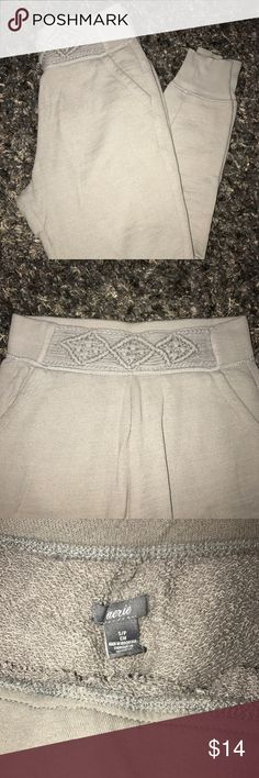 Aerie Jogger Sweat Pants Super soft, comfy & cute Aerie high-waist Jogger Sweatpants with a detailed front waist band. EUC. Barely worn. aerie Pants Track Pants & Joggers
