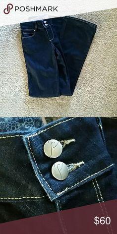 Paige premium hidden hills collection Dark denim wash inseam 32inch Paige Jeans Jeans Boot Cut