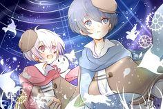 Soraru x Mafumafu Chibi Anime, Kawaii Chibi, Cute Chibi, Kawaii Girl, Anime Art, Manga, Natsume Yuujinchou, Indie Pop, Fanart
