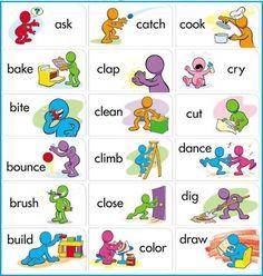 Английские глаголы в картинках / Неформальный Английский