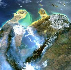 Venezuela desde arriba..... El Lago de Maracaibo ,La Goajira y la Peninsula de Paraguaná