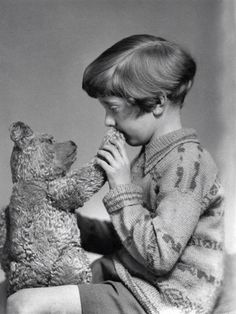 The real Winnie the Pooh and Christopher Robin, 1928.