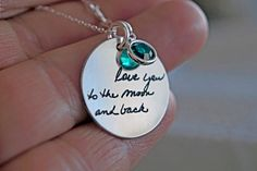 Hey, I found this really awesome Etsy listing at https://www.etsy.com/listing/259018193/handwritten-necklace-personalized