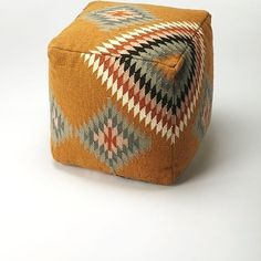 Purchase Butler Donoma Southwest Pouffe from Butler Specialty on Dot & Bo. Share and compare all Home. Brown Ottoman, Ottoman Footstool, Ottomans, Native American Fashion, Native American Nursery, Native American Decor, Chevron Patterns, Dot And Bo, Wool Felt