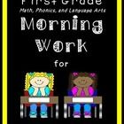 A month of Common Core aligned phonics, math, and language practice and review morning work for first grade.