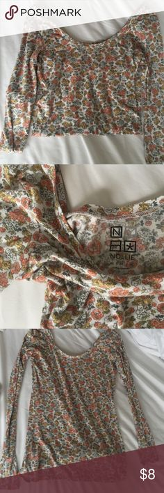 floral long sleeve tshirt lightly worn. was my favorite shirt but its gotten too small PacSun Tops Tees - Long Sleeve
