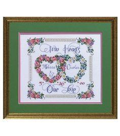 Janlynn Two Hearts, One Love Cntd X-Stitch Kit