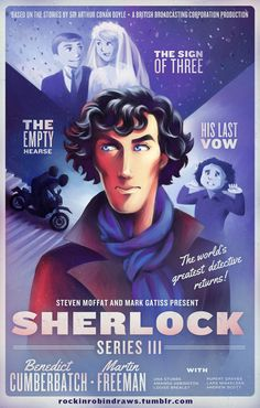 rockinrobindraws:  Sherlock Series Three Poster