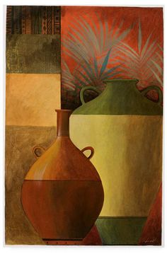 Trademark Global Pablo Esteban Vase Over Geometric Background 1 Canvas Art - 27 Artist Canvas, Canvas Art, Geometric Background, Still Life, Wall Art Prints, Vases, Drawings, Painting Art, Paintings