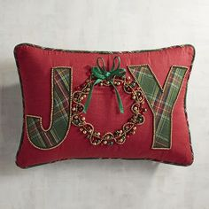 Joy with Bells Lumbar Pillow | Pier 1 Imports