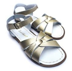 ab47516ed0e Salt Water Originals Sandals in Gold from Sun-San Sandals at Kidsen Sun San  Sandals