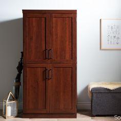 Morgan Armoire Color: Royal Cherry - http://delanico.com/armoires/morgan-armoire-color-royal-cherry-605864065/