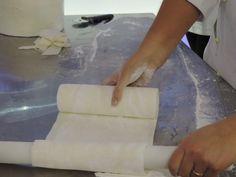 Lavorazione per la torta