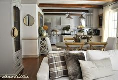 Early Fall House Tour  by Dear Lillie - throw from World Market