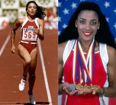black olympians with track and field gold medals | Beautiful Black Athletes - BV on Style