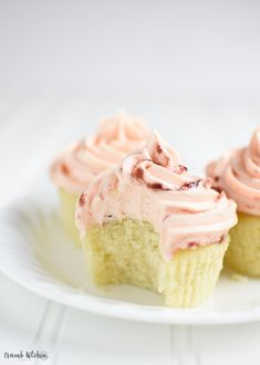 Tender, citrus-infused lemon cupcakes are piped high with seasonal grapefruit buttercream frosting for the perfect sweet and tangy treat. | Crumb Kitchen (scheduled via http://www.tailwindapp.com?utm_source=pinterest&utm_medium=twpin&utm_content=post132567673&utm_campaign=scheduler_attribution)
