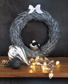 This sophisticated DIY Christmas wreath is made from an unexpected material-- felt weather seal from The Home Depot. Designer Eduardo Rodriguez shows how he made it.