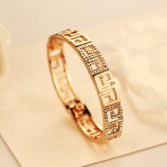 CNANIYA Brand Jewelry Rose Gold Bracelet Crystal Cuff Bangle Bracelet For Women/Brazaletes Pulseras Mujer De Oro/Pulseras Dorado