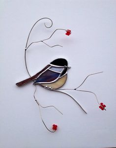 Favorite backyard bird Chicadee  on 3D branch by seasonaltreasures, $29.95