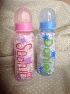 Personalized Plastic Baby Bottle by cmariedesigns on Etsy