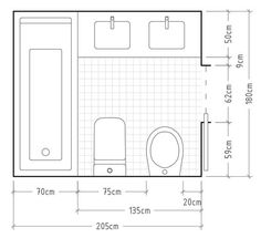 remodeling ideas bathroomisdefinitely important for your home. Whether you pick the bathroom renovations or bathroom remodeling ideas, you will create the best dyi bathroom remodel for your own life. Small Bathroom Layout, Modern Bathroom Design, Bathroom Interior, Bathroom Designs, The Plan, How To Plan, Bathroom Dimensions, Bathroom Floor Plans, Small Bathroom Plans