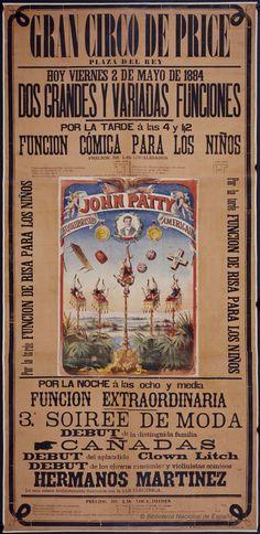 Dos grandes y variadas funciones. Circo Price — Dibujos, grabados y fotografías — 1884