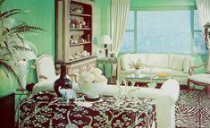 Retro Living Rooms, Vintage Interior Design, Curtains, Decor Ideas, Furniture, Home Decor, Living Room, Blinds, Decoration Home